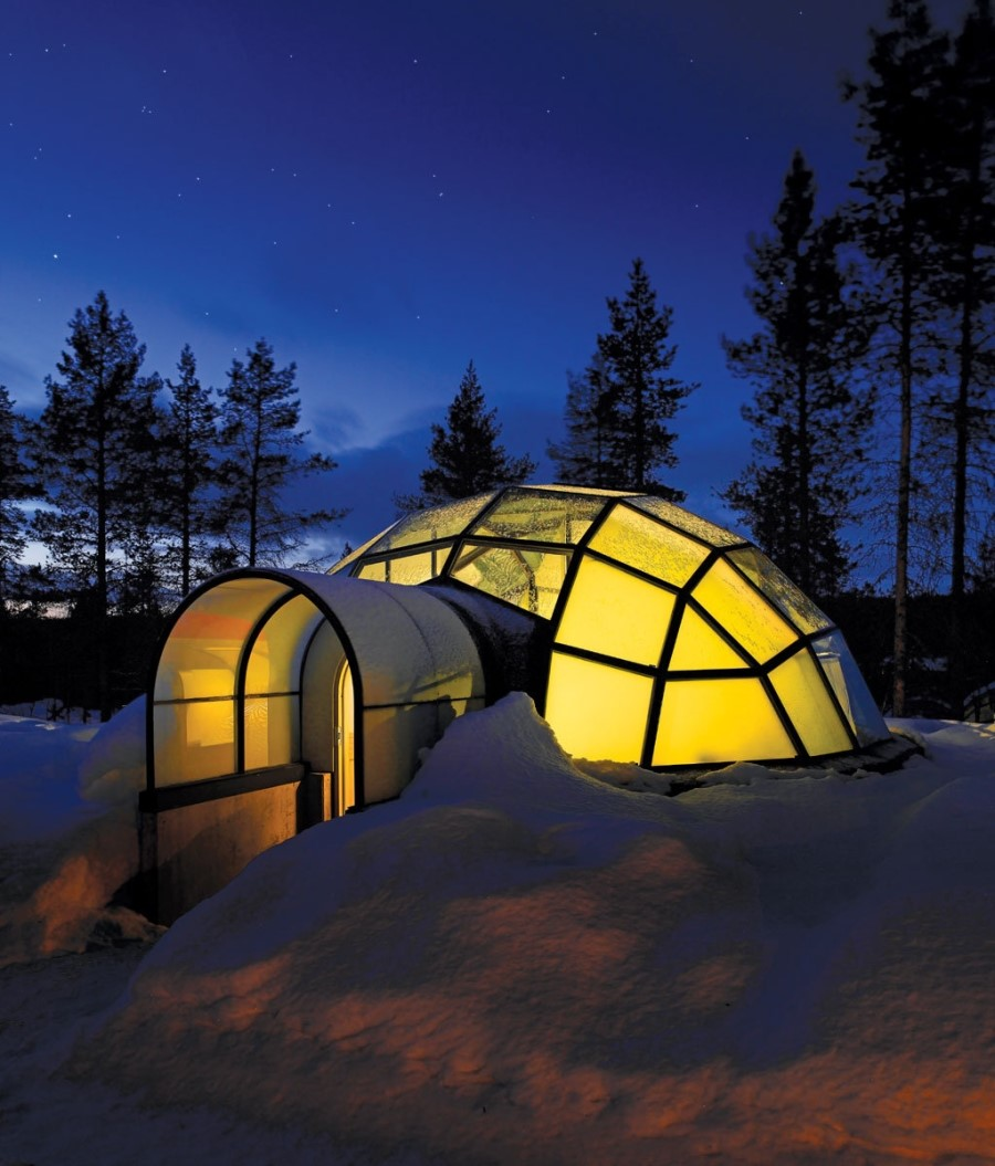 laponie une nuit dans un igloo en verre face aux aurores bor ales. Black Bedroom Furniture Sets. Home Design Ideas